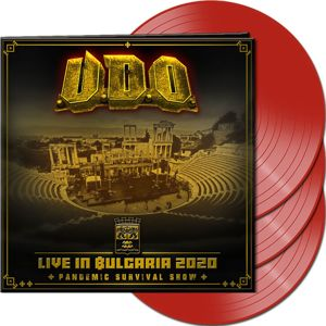 U.D.O. Live in Bulgaria 2020 – Pandemic Survival Show 3-LP červená
