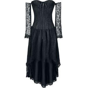 Gothicana by EMP Šaty se vzadu prodluženým střihem šaty černá
