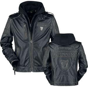 Guinness Guinness 1759 kožená bunda černá