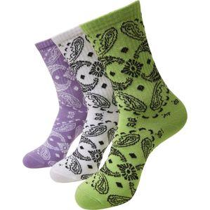 Urban Classics Bandana Pattern Socks 3-Pack Ponožky vícebarevný