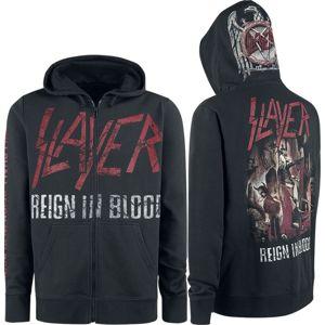 Slayer Reign In Blood mikina s kapucí na zip černá