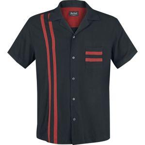 Chet Rock Bowlingová košile Lucky Stripe košile cerná/cervená