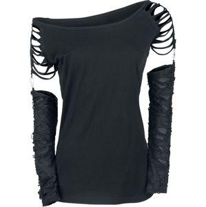 Gothicana by EMP Days Without dívcí triko s dlouhými rukávy černá