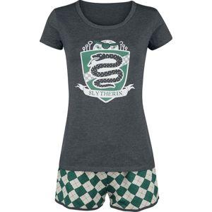 Harry Potter Zmijozel Famfrpál pyžama zelená/šedá