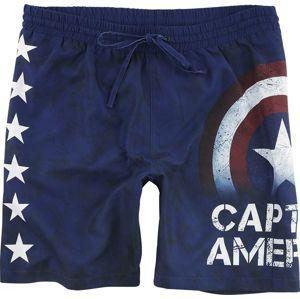 Captain America Stars Pánské plavky tmavě modrá