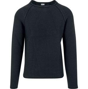 Urban Classics Raglan Wideneck Sweater Svetr černá