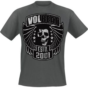Volbeat Skull & Wings tricko charcoal