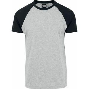 RED by EMP grau meliertes T-Shirt mit schwarzen Ärmeln Tričko smíšená šedo-černá