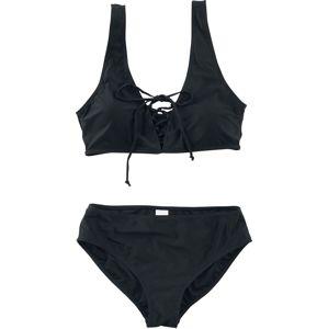 Forplay Bikiny so zavazováním na přední straně plavky černá