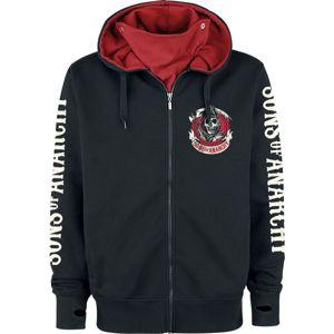 Sons Of Anarchy American Outlaw mikina s kapucí na zip černá