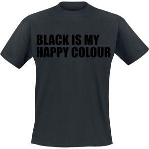 Black Is My Happy Colour tricko černá