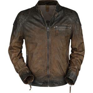 Gipsy Arne Slim Fit Lamov kožená bunda tmavě hnedá