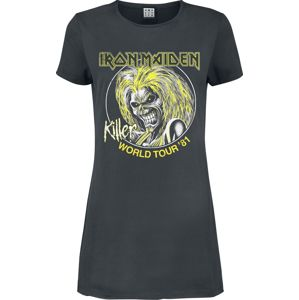Iron Maiden Amplified Collection - Killer World Tour 81' šaty charcoal